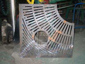 Krata żeliwna po naprawie spawaniu