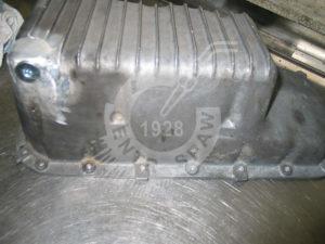 Naprawa miski olejowej spawanie aluminium